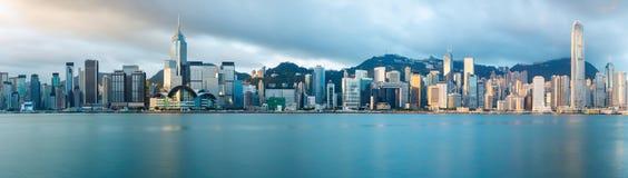 Hong Kong horisont arkivfoto
