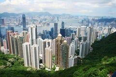 Hong Kong horisont Arkivbild
