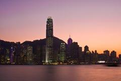 Hong Kong horisont Arkivbilder