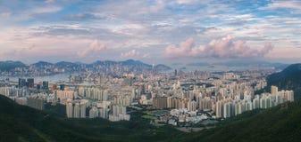 Hong Kong horisont Arkivfoton