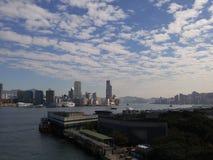 Hong Kong horisont royaltyfri fotografi