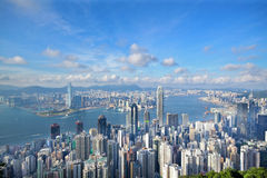 Hong Kong-horizon Stock Foto's