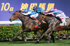 Hong Kong Horse Racing Stock Photo