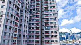 Hong Kong housing. Colourful flats in Island, Hong Kong Stock Image