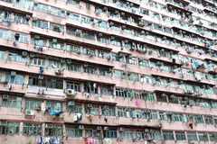 Hong Kong housing. Crowded housing condition in Hong Kong, China royalty free stock photo