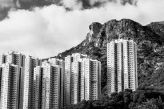 Hong Kong Housing landscape Royalty Free Stock Photos