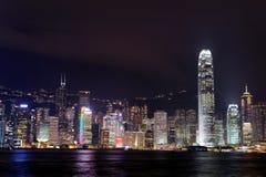 Hong Kong i stadens centrum skyskrapor Arkivfoton