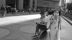 Hong Kong i svartvitt Arkivfoton