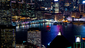 Hong Kong iconic night view from Victoria peak, Beautiful light Royalty Free Stock Images