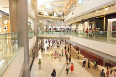 Hong Kong : IFC Mall. IFC mall houses a diverse tenant mix of more than 100 international brands, offering a fashion mecca, state-of-the-art beauty centre Royalty Free Stock Image
