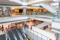 Hong Kong : IFC Mall. IFC mall houses a diverse tenant mix of more than 100 international brands, offering a fashion mecca, state-of-the-art beauty centre Stock Photo