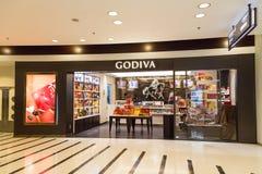 HONG KONG, il 29 gennaio 2017: Sbocco del cioccolato di Godiva in Hong Kon immagini stock