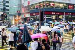 Hong Kong im Regen Stockfotografie