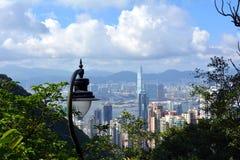 Hong Kong. Image of Hong Kong skyline view from Victora peak. stock image