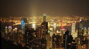 Hong Kong imponerande föreställning Fotografering för Bildbyråer