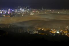 Free Hong Kong In A Foggy Night - My Neighbor Royalty Free Stock Photography - 106026587