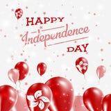Hong Kong Independence Day Patriotic-Ontwerp vector illustratie