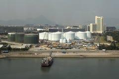 Hong Kong Industry. In Lantau Stock Photography