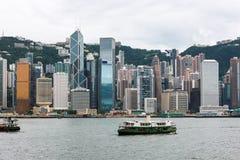 Hong Kong-Insel-Skyline Stockbild