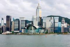 Hong Kong-Insel-Skyline Stockfotografie
