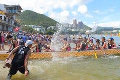 Hong Kong Int ' l Dragon Boat Championships 2015 Arkivfoton