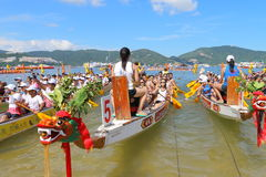 Hong Kong Int'l Dragon Boat Championships 2015 Royalty Free Stock Images