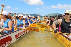 Hong Kong Int'l Dragon Boat Championships 2015 Royalty Free Stock Photography