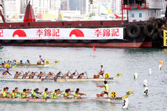 Hong Kong Int'l Dragon Boat Races 2012 Royalty Free Stock Images