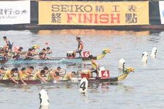 Hong Kong Int ' l Dragon Boat Races 2014 Imagenes de archivo