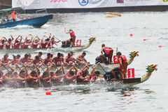 Hong Kong Int ' l Dragon Boat Races 2016 fotos de stock