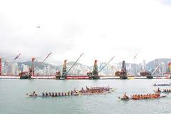 Hong Kong Int'l Dragon Boat Races 2013 Royalty Free Stock Image