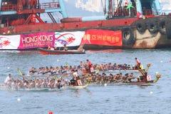 Hong Kong Int'l Dragon Boat Races 2015 Royalty Free Stock Images