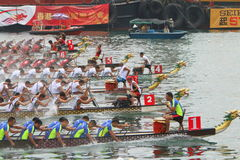 Hong Kong Int'l Dragon Boat Races 2016 Royalty Free Stock Image