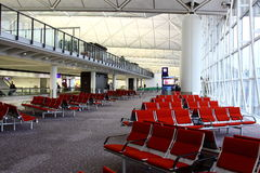 Hong Kong International Airport. Waiting Area Stock Image
