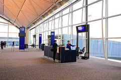 Hong kong international airport boarding gate Royalty Free Stock Images