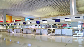 Hong kong international airport check in counters Stock Image
