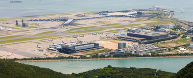 Hong Kong International Airport - Chek Lap Kok Lizenzfreie Stockfotos