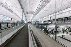 Hong Kong International Airport Chek Lap Kok Airport Terminal Arkivbilder
