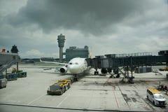 Hong Kong International Airport or Chek Lap Kok Airport in Hong Kong, China stock image
