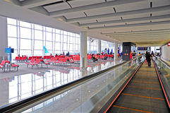 Hong kong international airport departure hall Royalty Free Stock Photography