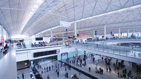 Hong Kong International Airport Establishing skott stock video