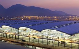Hong Kong International Airport at the evening Stock Photography