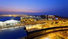 Hong Kong International Airport at the evening Stock Photo