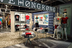 Hong Kong International Airport-Innenraum Stockbild