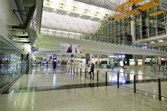 Hong Kong International Airport interior Stock Photography