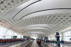 Hong Kong International Airport Midfield Concourse. The midfield area is located to the west of Terminal 1 and between the two existing runways Stock Photography
