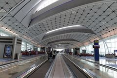Hong Kong International Airport Midfield Concourse. The midfield area is located to the west of Terminal 1 and between the two existing runways Royalty Free Stock Photography