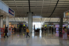 Hong Kong International Airport North Satellite Concourse Royalty Free Stock Photo