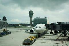 Hong Kong International Airport ou Chek Lap Kok Airport en Hong Kong, Chine photos stock