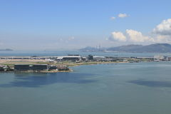Hong Kong International Airport panoramic view Stock Images
